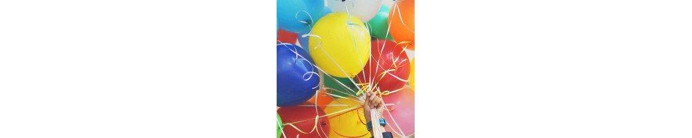 Ballons latex, ballons chiffres et lettres
