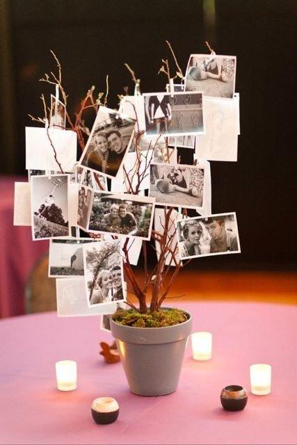 diy arbre centre de table ou arbre souvenir plan de table tendance boutik. Black Bedroom Furniture Sets. Home Design Ideas