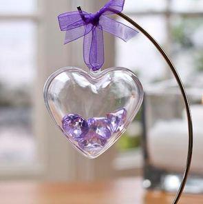 boite drage coeur plexi transparent pour un mariage thme de lamour et des coeur - Contenant Drages Mariage Coeur