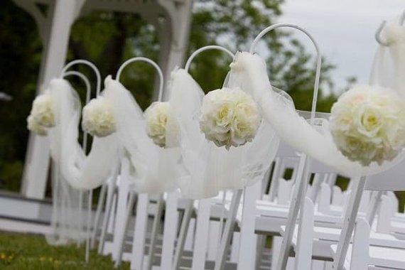 décoration cérémonie mariage boule de fleur