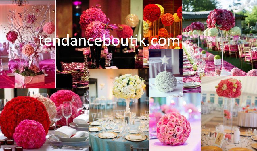centre de table boule de fleurs tendance boutik. Black Bedroom Furniture Sets. Home Design Ideas
