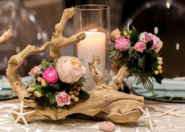 Bougies dcoratives et phosphores pour dco de table