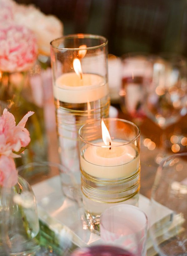 decoration table mariage bougie