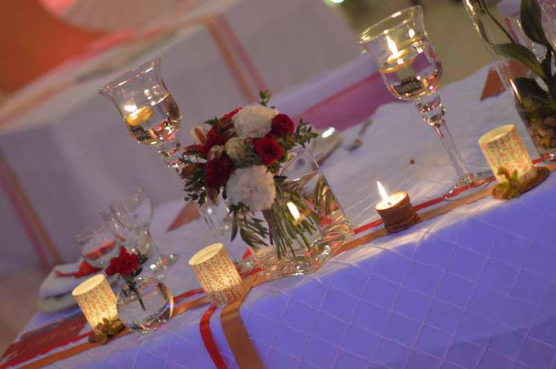 Bougie et photophores pour une belle d coration de table - Decoration de table avec bougies ...