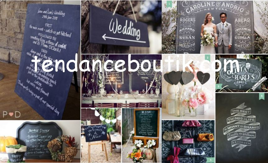 mariage thème craie - tendance boutik