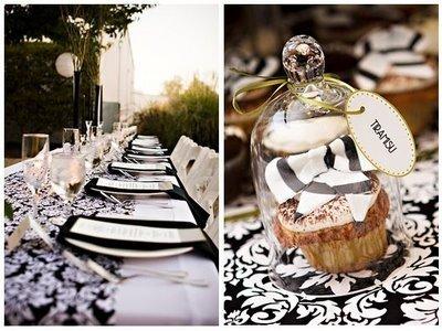 mariage baroque noir et blanc damask tendance boutik. Black Bedroom Furniture Sets. Home Design Ideas