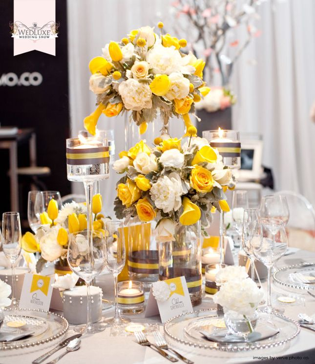 yellow and gray wedding decorations d 233 coration de mariage jaune et gris tendance boutik 1506