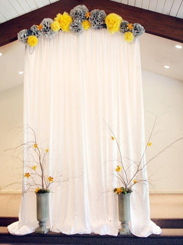 Idee De Decoration De Mariage Jaune Et Gris Tendance Boutik