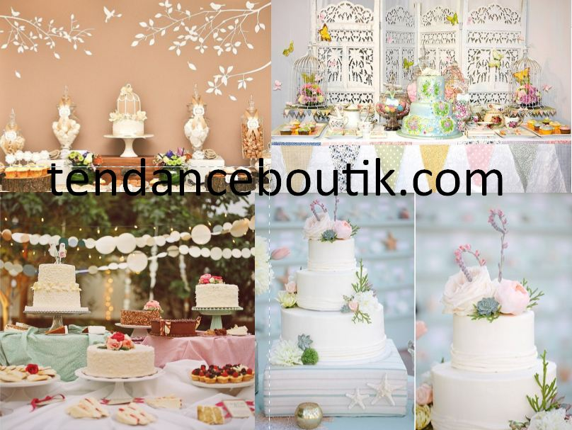 gateau de mariage original et idee decoration table gateau mariage tendance boutik. Black Bedroom Furniture Sets. Home Design Ideas