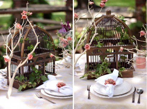 Photo Table Decoration Theme Automne : Mariage theme oiseau nature tendance boutik