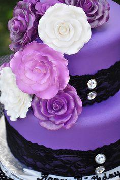 Gateau couleur violet