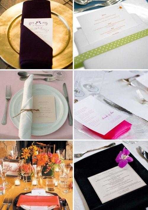 Ronds De Serviette Decoration De Table De Mariage Tendance Boutik