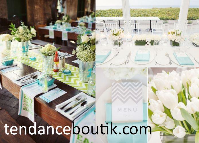 Mariage chevron des imprim s dans nos d co de mariage - Decoration serviette de table mariage ...