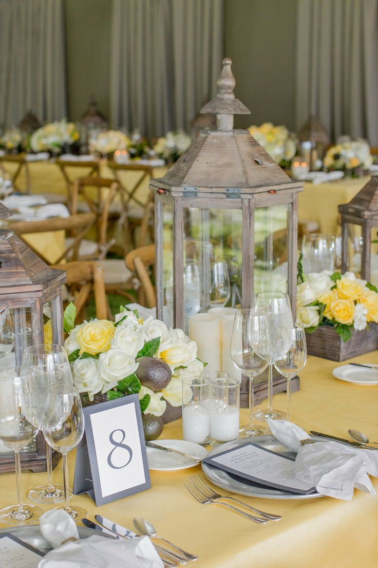 Decoration de mariage jaune et gris: couleurs tendance de mariage !