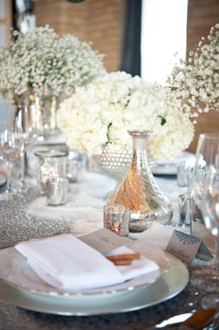Deco mariage gris et blanc tendance boutik for Table za stolove