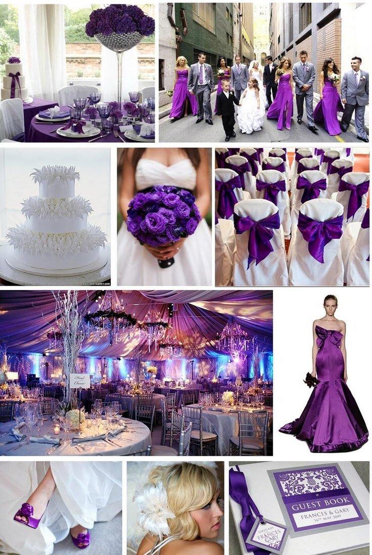 decoration mariage mauve