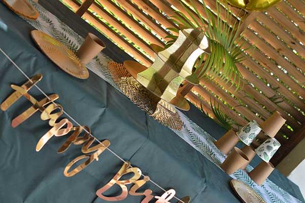 decoration anniversaire rose gold