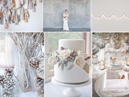 Theme blanc et argent marriage at first sight