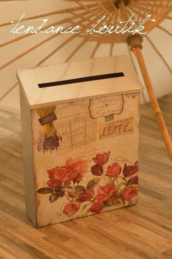Urne mariage vintage boite aux lettres tendance boutik - Urne mariage originale ...